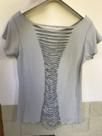 Cut Back Top - Zilver