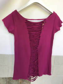 Cut Back Top - Fuchsia Roze