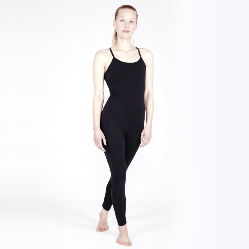 Yoga Jumpsuit Cross SOFT BLACK
