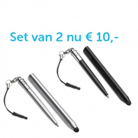 2 x stylus pen 2 in 1