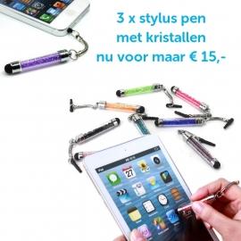 3 x Stylus Pen Kristall