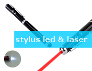 stylus pen met led en laser, touchscreen ipad pen