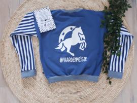 jeans blauw vestje met paardenopdruk