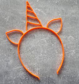 diadeem eenhoorn oranje