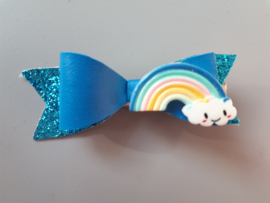 haarspeldje rainbow blauw