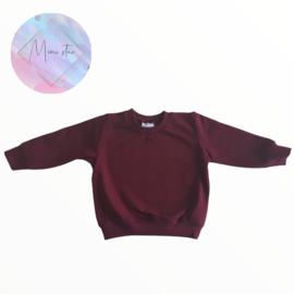 basic sweater burgundy