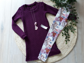 legging romantic flower