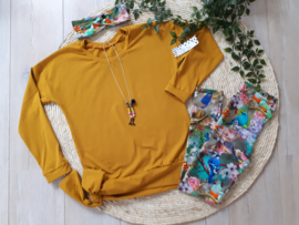 oversized shirt oker gold ***