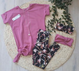 oversized shirt oud roze
