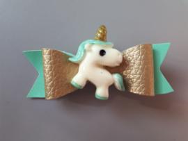 haarspeldje unicorn mint