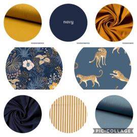 kleurencombinaties navy / oker