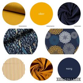 kleuren combinaties oker / navy