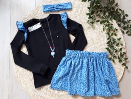 longsleeve luipaard blue