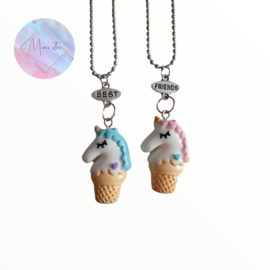 Set BFF kettingen Unicorn ice cream