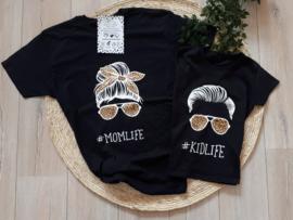 t-shirt set #momlife #kidlife boy