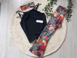 flared pants ruitjes en bloemen