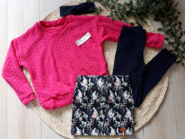 sweater kabel roze