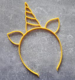 diadeem eenhoorn geel
