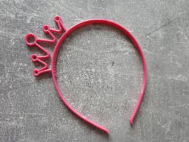 diadeem kroontje donker roze