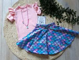Shirt ruffled licht roze