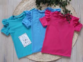 Shirt roezels * kies je eigen kleur *