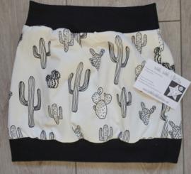 rokje zwart wit cactus