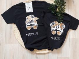 t- shirt set #momlife  #kidlife girl