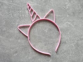 diadeem eenhoorn glitter licht roze