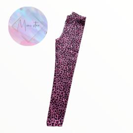 legging of flared pink leopard