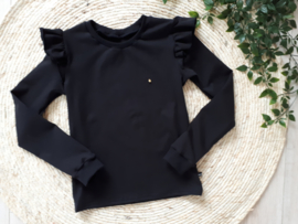 longsleeve zwart with a touch of gold