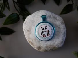 ketting hanger panda blue