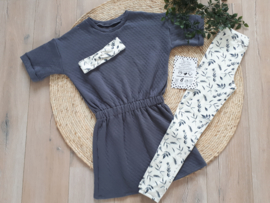 legging grey leaves