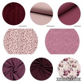 kleurencombinaties roze / bordeaux