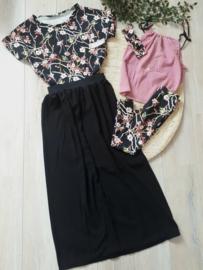 zwarte zomerse dames rok