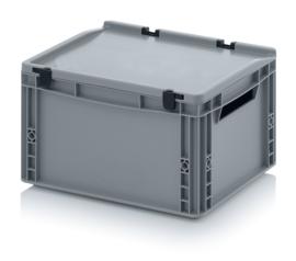 Transportbox met deksel, PP,  400x300x220
