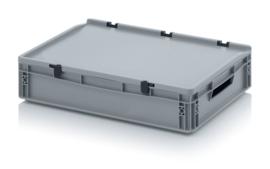 Transportbox met deksel, PP,  600x400x120
