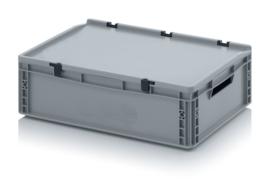 Transportbox met deksel, PP,  600x400x170