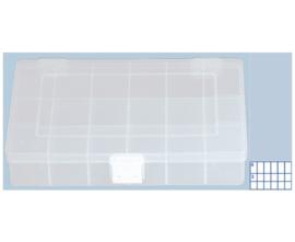 Kunststof assortimentskist PP-COMPACT 18-vaks