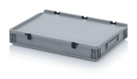 Transportbox met deksel, PP,  600x400x75