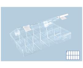Kunststof assortimentskist PS-CLASSIC 12-vaks