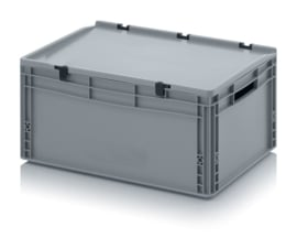 Transportbox met deksel, PP,  600x400x270