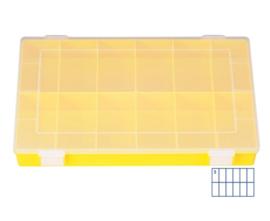 Kunststof assortimentskist PP-CLASSIC 12-vaks