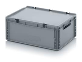 Transportbox met deksel, PP,  600x400x220