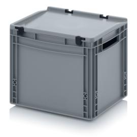 Transportbox met deksel, PP,  400x300x320