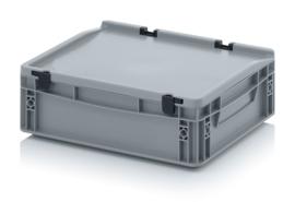 Transportbox met deksel, PP,  400x300x120