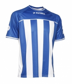 Soccer Shirt Stripes SS Coruna105 Colour 054 Royal Blue/White
