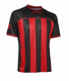 Soccer Shirt Stripes SS Coruna105 Colour  522  Black/Red