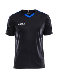 Craft Progress Contrast Shirt Kids 9345 Zwart/Royal Blue