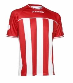 Soccer Shirt Stripes SS Coruna105 Colour 047 Red/White
