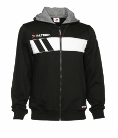 Hoody Jacket Cotton Impact120 Colour 009 Black/White
